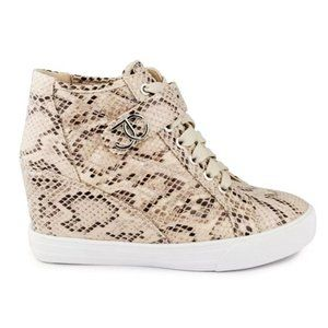 NWT Juicy Couture Snake Platform Wedge Sneakers